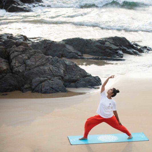Yogamatte Inhale Joy Mandala Türkis