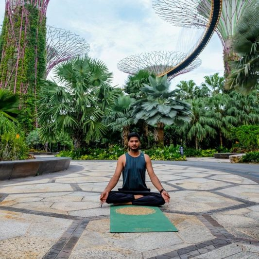 Yogamatte Inhale Joy Mandala Grün