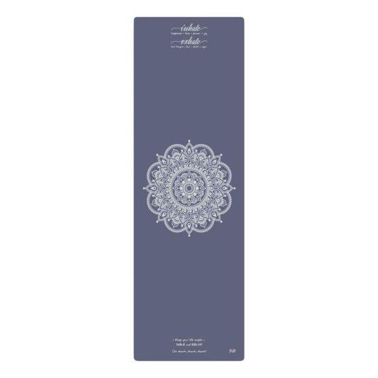 Yogamatte Inhale Joy Mandala Indigo