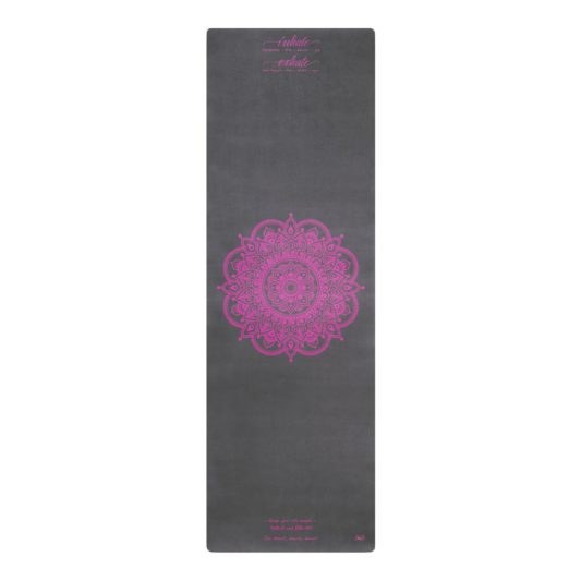 Yogamatte Inhale Joy Mandala Grey