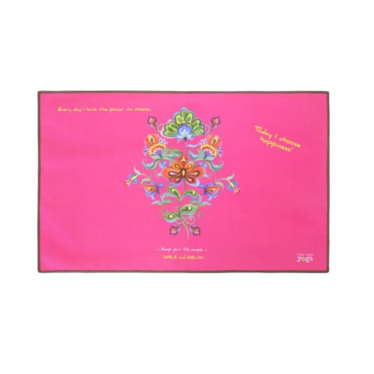 Yoga Handtuch Happiness Pink Flowers
