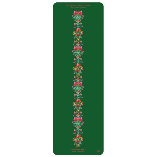 Yogamatte Happiness Green Flowers