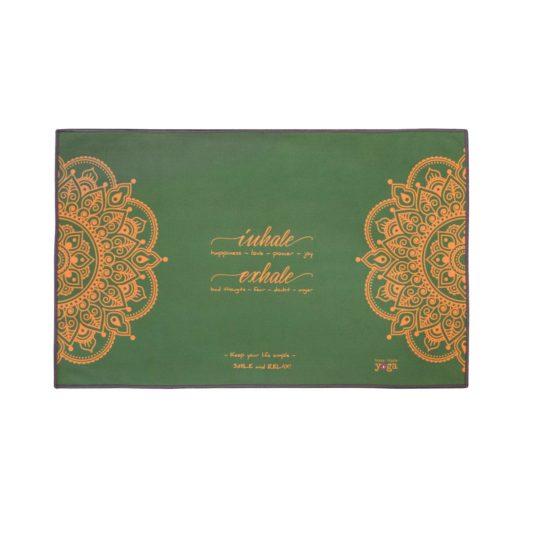 Yoga Handtuch Inhale Joy Mandala Grün