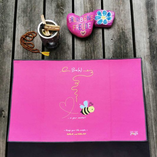 Yoga Handtuch Bee in your center Pink