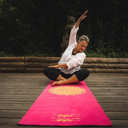 Reisematte Inhale Joy Mandala Pink