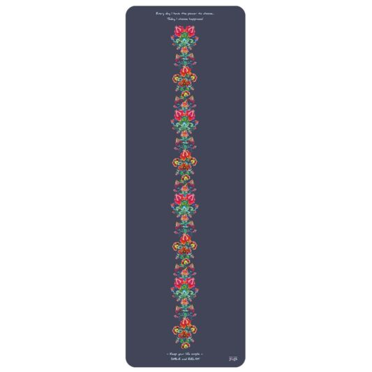 Yogamatte Happiness Indigo Flowers