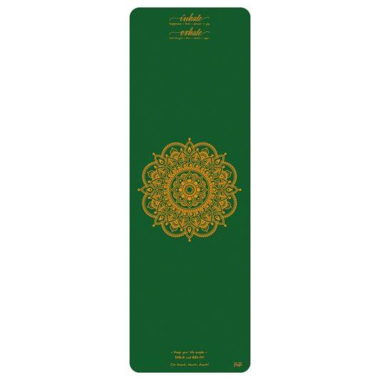 Reisematte Inhale Joy Mandala Grün