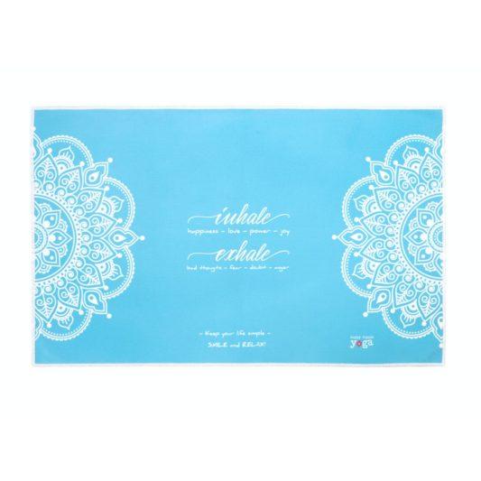 Yoga Handtuch Inhale Joy Mandala Türkis