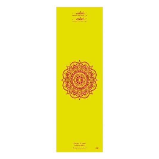Yogatuch Inhale Joy Mandala Gelb