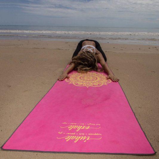 Yogatuch Inhale Joy Mandala Pink